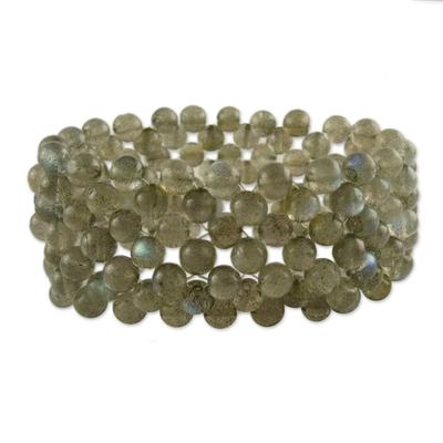 Labradorite Wristband Bracelet Artisan Crafted