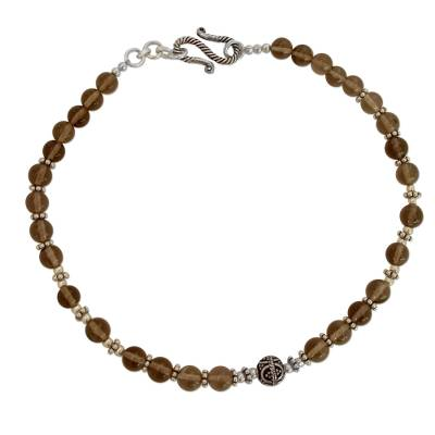 Handcrafted Sterling Silver Beaded Quartz Anklet