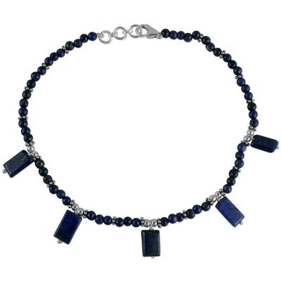 Lapis lazuli anklet