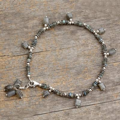 Labradorite anklet, Intuitive