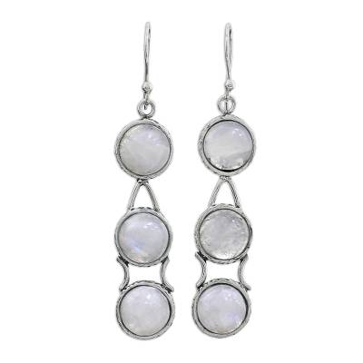 Moonstone Earrings from India Sterling Silver Jewelry