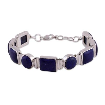 Sterling Silver Lapis Lazuli Bracelet Indian Jewelry