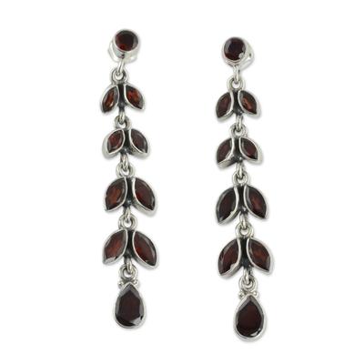 Fair Trade Jewelry Garnet Earrings India