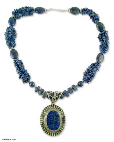 Lapis Lazuli Handcrafted Sterling Silver Necklace