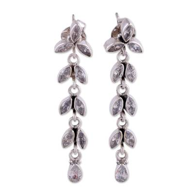 Sterling Silver and Quartz Earrings from Bridal Jewelry