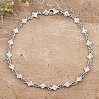 Sterling silver anklet,