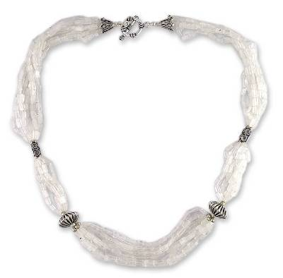 Rainbow Moonstone Beaded Necklace from India