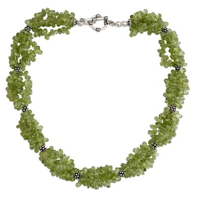 Peridot Beaded Necklace, Handcrafted in India