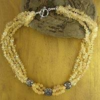 Citrine beaded necklace, 'Extravagant' - Citrine beaded necklace