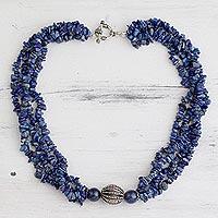 Lapis lazuli beaded necklace,