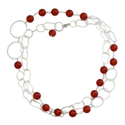 Carnelian long necklace