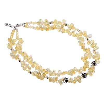 Citrine strand necklace