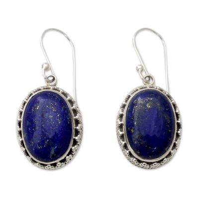 Hand Crafted Sterling Silver and Lapis Lazuli Earrings