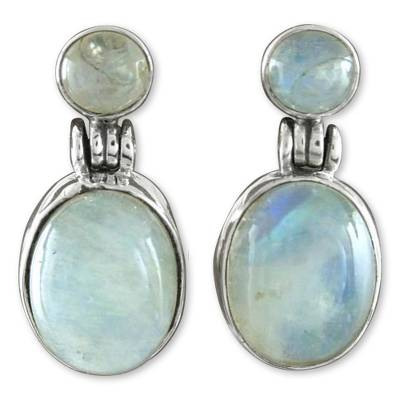 Handcrafted Sterling Silver and Moonstone Earrings