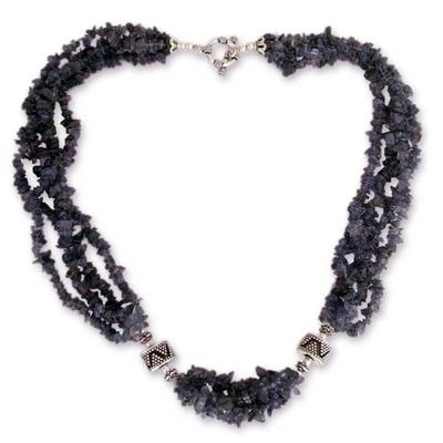 Iolite torsade necklace