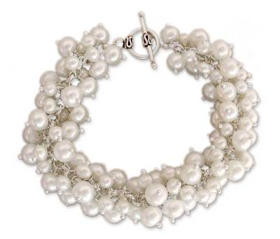 Pearl Handcrafted Bracelet from India Bridal Jewelry