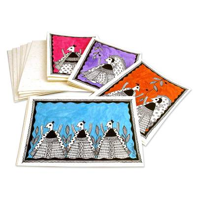 Madhubani greeting cards (Set of 8)