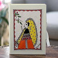 Madhubani greeting cards, 'Wedding Party' (set of 8) - Madhubani Greeting Cards Handmade Paper (Set of 8)