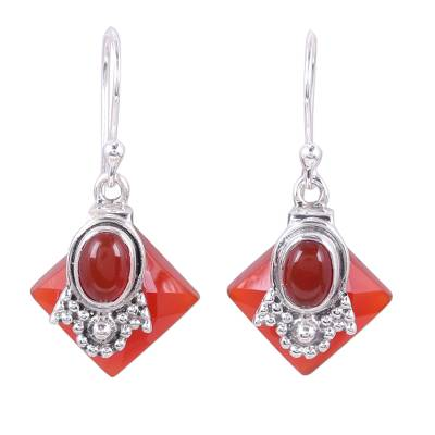 Carnelian Earrings from Indian Jewelry Collection