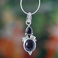 Amethyst pendant necklace, 'Mumbai Lilac' - Amethyst pendant necklace