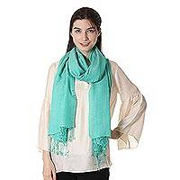 Wool shawl Enchanted Sea India