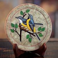 Soapstone plate,