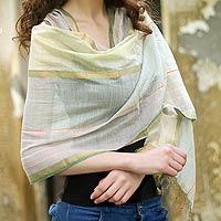 Cotton and silk shawl India Magic India
