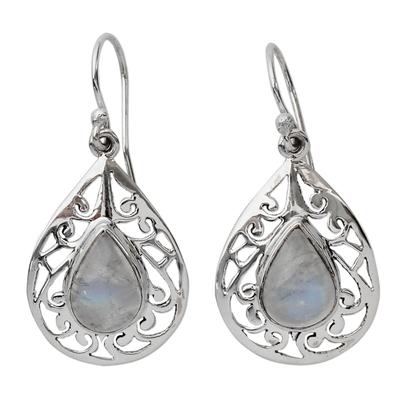 Moonstone Jewelry Handmade Sterling Silver Earrings