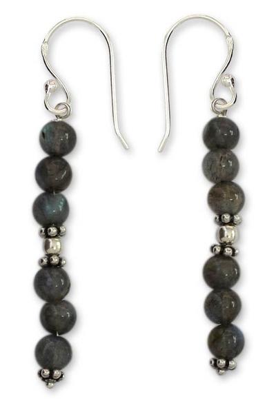 Labradorite dangle earrings