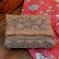 Walnut wood jewelry box,