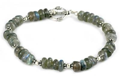 Hand Crafted Beaded Labradorite Bracelet