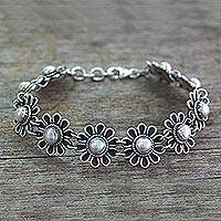 Pearl flower bracelet,