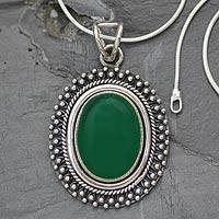 Sterling silver pendant necklace, Sariska Forest