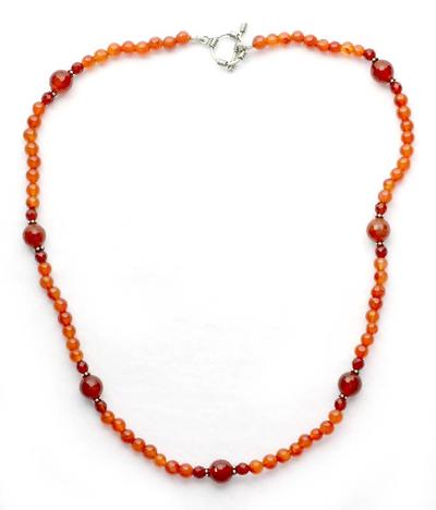 Unique Beaded Carnelian Necklace