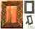 Glass photo frame, 'Bangalore Bangles' (4x6) - Handcrafted Wood Photo Frame (4x6) (image 2) thumbail
