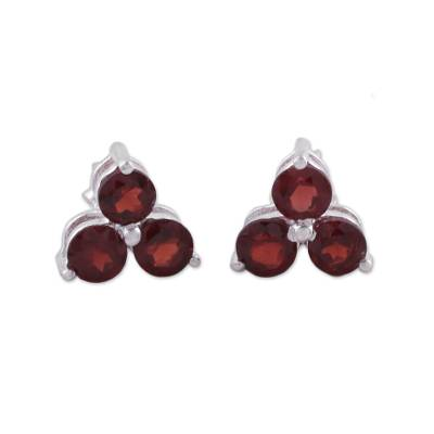 Garnet Stud Earrings from Birthstone Jewelry