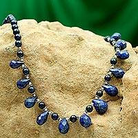 Lapis lazuli necklace, Royal Blue