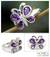 Amethyst cocktail ring, 'Lilac Butterfly' - Amethysts on Sterling Silver Cocktail Ring from India thumbail