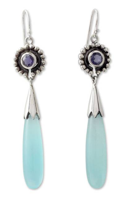 Handcrafted Sterling Silver and Chalcedony Earrings