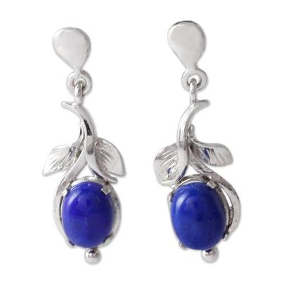 Lapis lazuli flower earrings