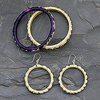 India grass jewelry set, 'India Celebration' - India grass jewelry set