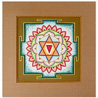 Yantra painting, 'Chandi II'