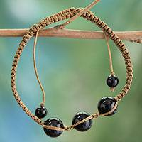 Featured review for Onyx Shambhala-style bracelet, Tranquil Protection