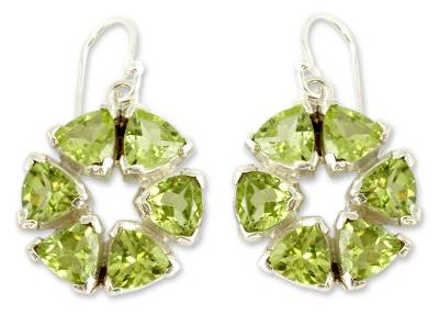 Peridot and Sterling Silver Earrings from Modern Jewelry
