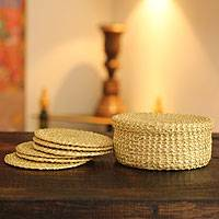 Sikki grass coasters,