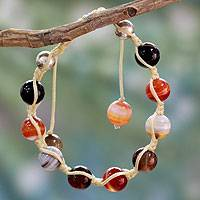 Featured review for Agate Shambhala-style bracelet, Indian Sun