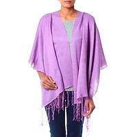 Silk and wool shawl,