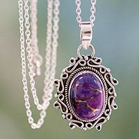 Sterling silver pendant necklace, Splendor