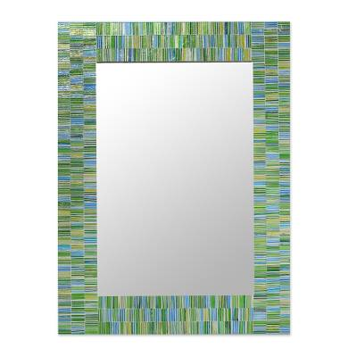 Handcrafted Glass Mosaic Tile Mirror from India