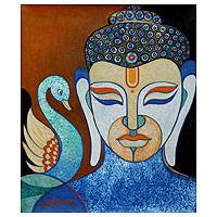 'Peacefulness' - Original Buddha Painting